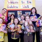 4th Fullwood Brownies with their Easter Egg delivery